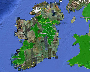 Map Of Ireland Cities And Towns.Ireland