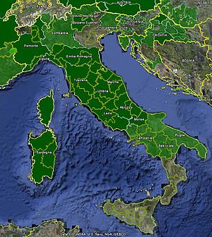 Free Map Of Italy.Italy